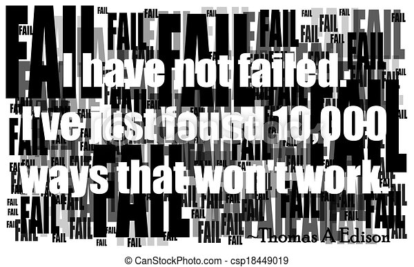 edison quote on failure - csp18449019