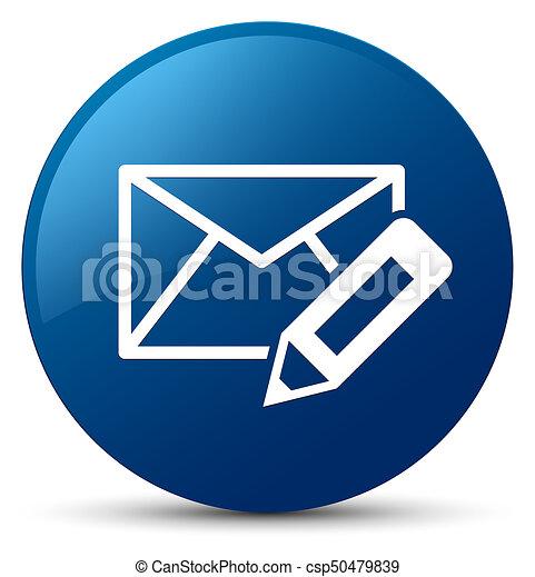 Edit email icon blue round button - csp50479839