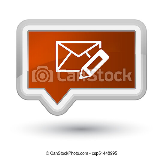 Edit email icon prime brown banner button - csp51448995
