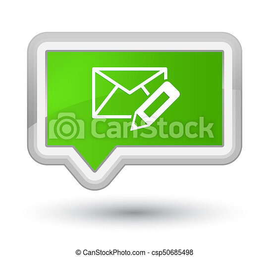 Edit email icon prime soft green banner button - csp50685498