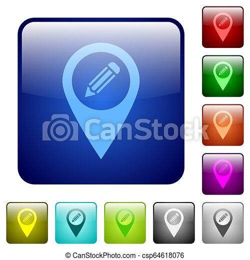 Edit GPS map location color square buttons - csp64618076