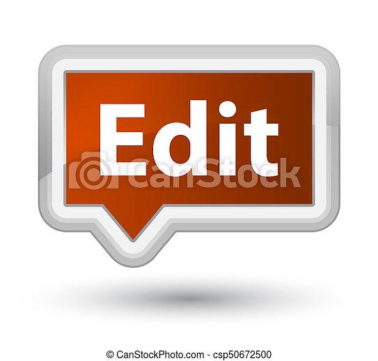 Edit prime brown banner button - csp50672500