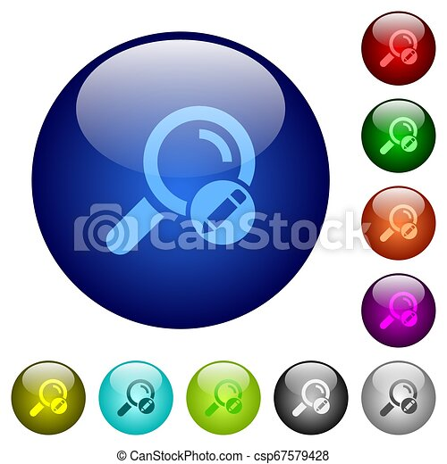Edit search terms color glass buttons - csp67579428