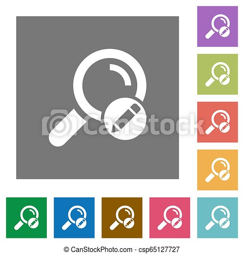 Edit search terms square flat icons - csp65127727