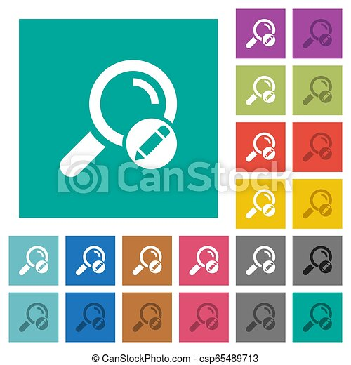Edit search terms square flat multi colored icons - csp65489713