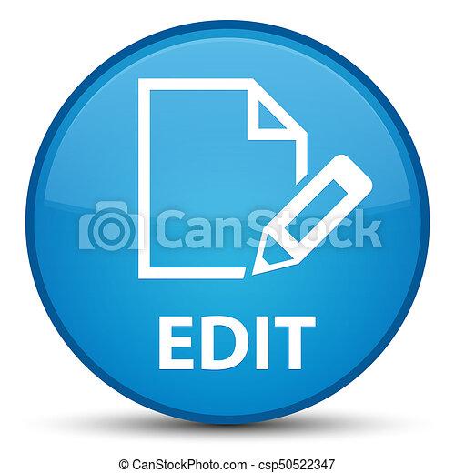 Edit special cyan blue round button - csp50522347