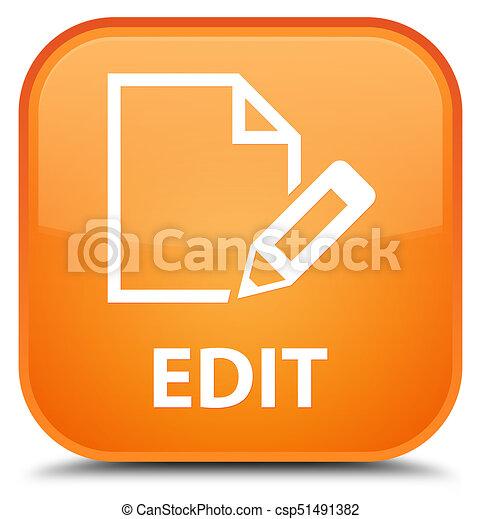 Edit special orange square button - csp51491382