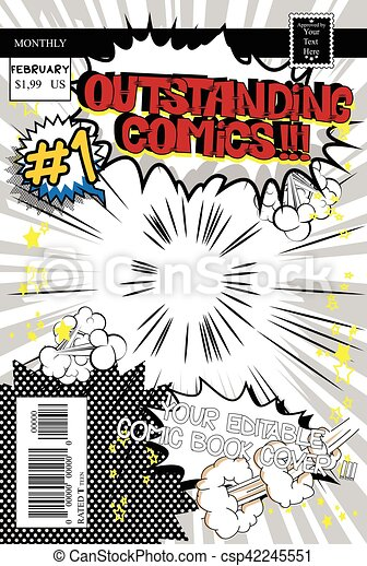 Comic Book Cover Template from comps.canstockphoto.com