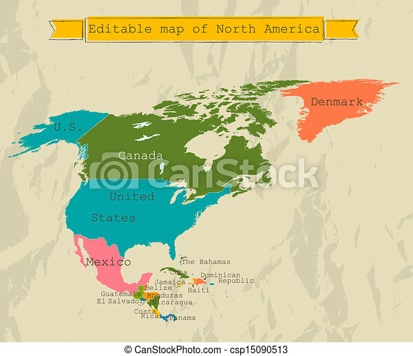 Editable South America  map with all countries. - csp15090513