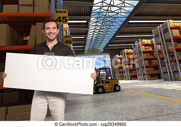 Editable transportation sign - csp26349960