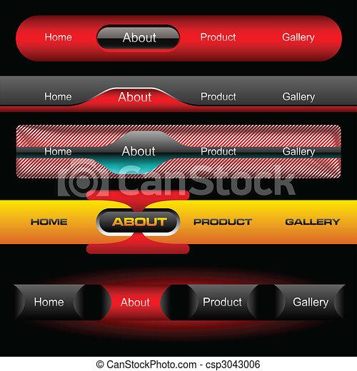 Editable website vector buttons - csp3043006