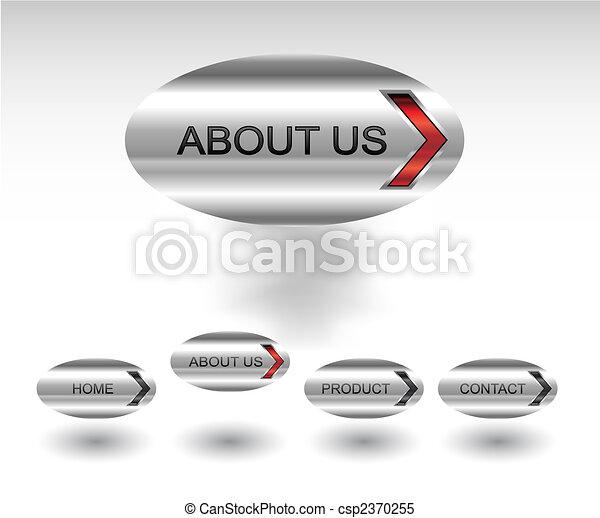 Editable website vector buttons - csp2370255