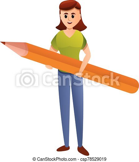 Editor girl icon, cartoon style - csp78529019