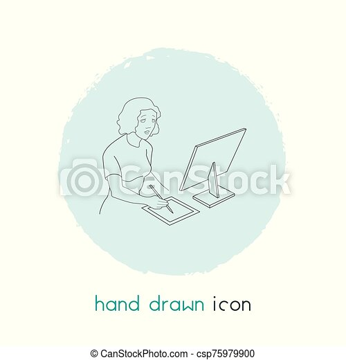 Editor icon line element. Vector illustration of editor icon line isolated on clean background for your web mobile app logo design. - csp75979900
