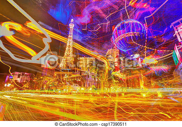 Editorial use only Las Vegas Nevada Strip at night - csp17390511