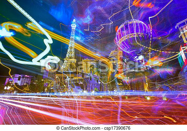 Editorial use only Las Vegas Nevada Strip at night - csp17390676