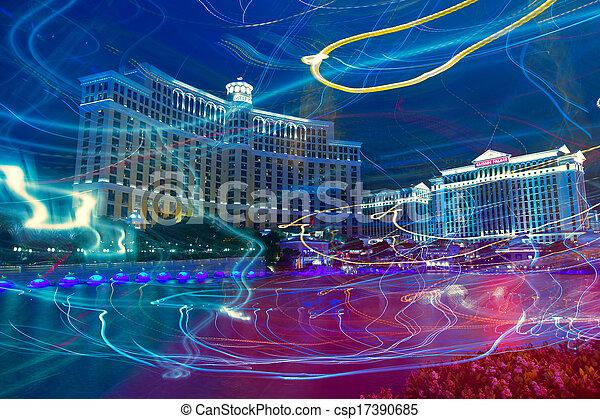 Editorial use only Las Vegas Nevada Strip at night - csp17390685