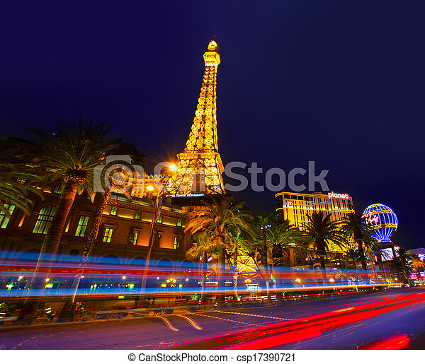 Editorial use only Las Vegas Nevada Strip at night - csp17390721