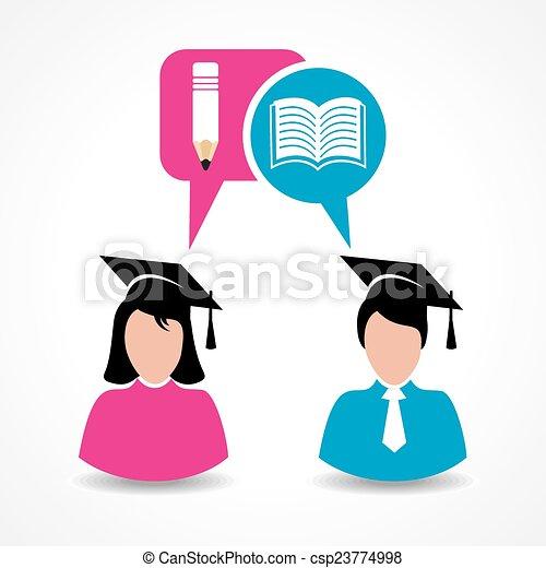 educação, estudante masculino, femininas, & - csp23774998