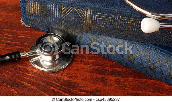 educação médica, saúde, concept., cuidado - csp45895237
