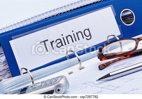 educação, treinamento, educação, adulto - csp7287782
