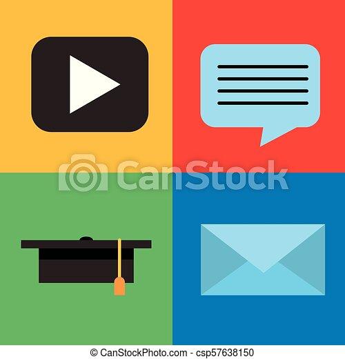 Aprendiendo educación online - csp57638150