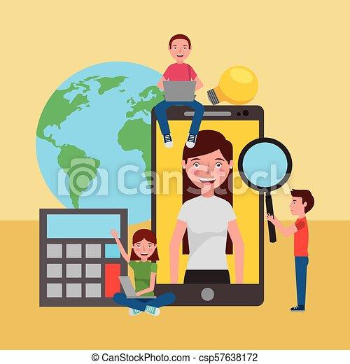 Aprendiendo educación online - csp57638172