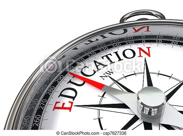 Una brújula de educación - csp7627336