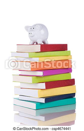 educación, coste - csp4674441