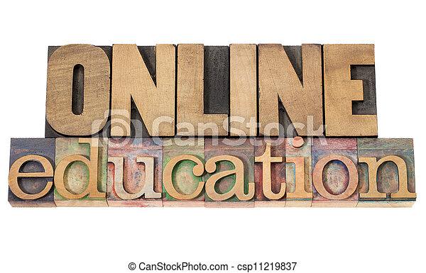 educación, en línea - csp11219837