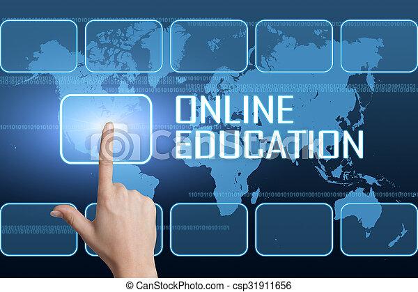 educación, en línea - csp31911656