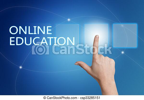 educación, en línea - csp33285151