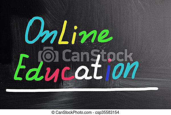 educación, en línea - csp35583154