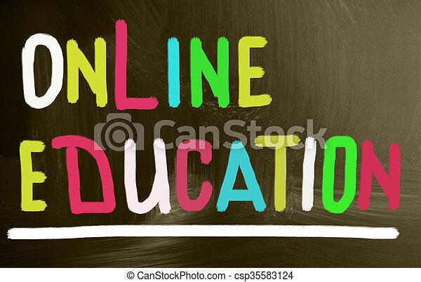 educación, en línea - csp35583124