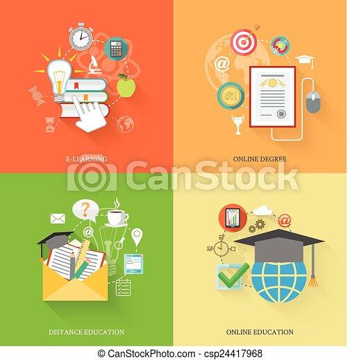 Íconos de educación en línea - csp24417968