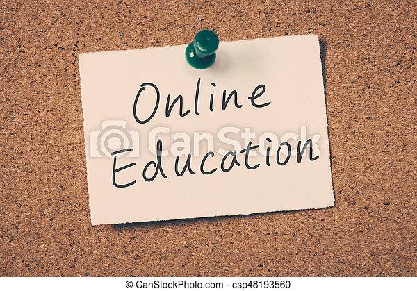 educación, en línea - csp48193560
