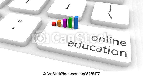 educación, en línea - csp35755477