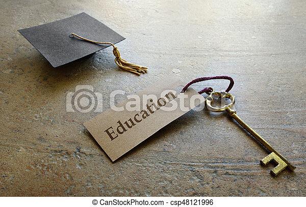 educación, graduación, llave - csp48121996