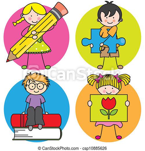 educación, tarjeta - csp10885626