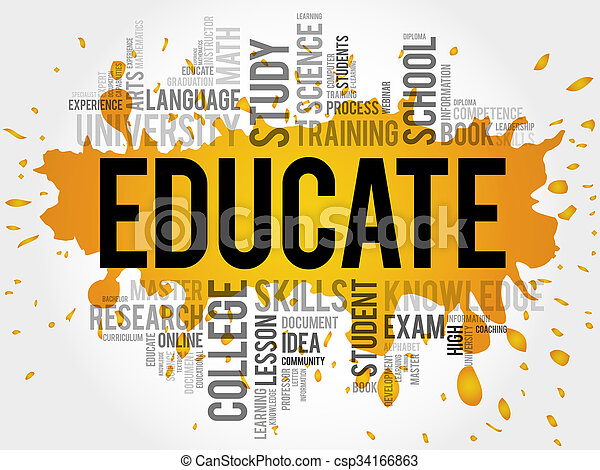 EDUCATE Word cloud. - csp34166863