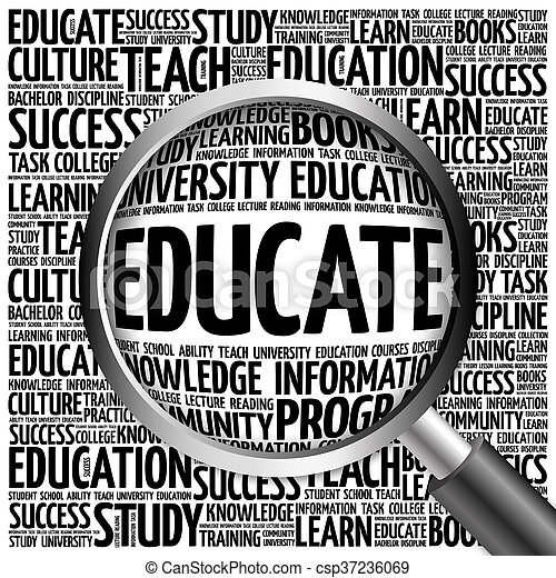 EDUCATE. Word education collage - csp37236069