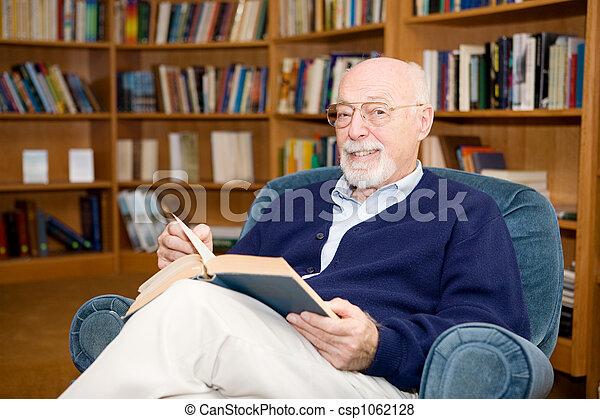 Educated Senior Man - csp1062128