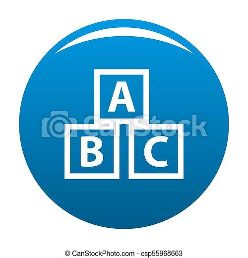 Education abc blocks icon blue - csp55968663