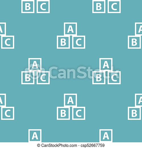 Education abc blocks pattern seamless blue - csp52667759