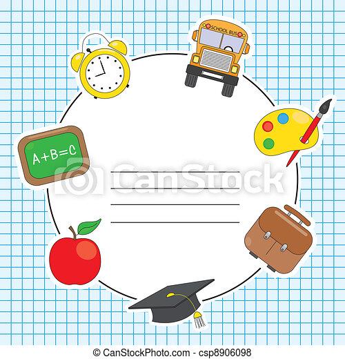 Education and school icon set - csp8906098