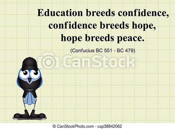 Education Breeds Confidence Chinese Proverb On Graph Paper
