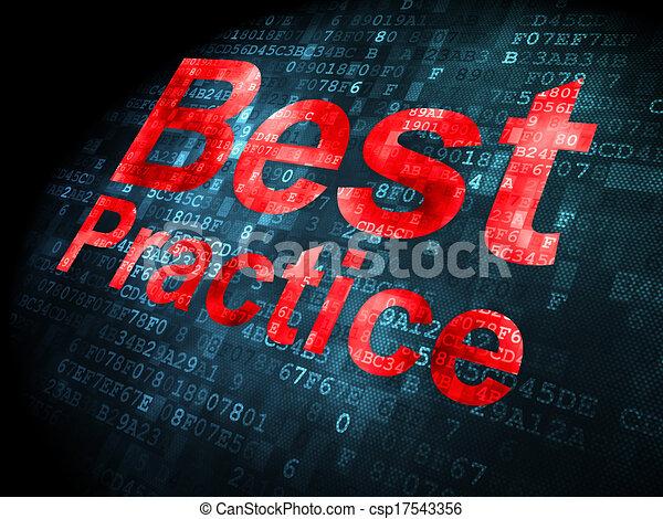 Education concept: Best Practice on digital background - csp17543356