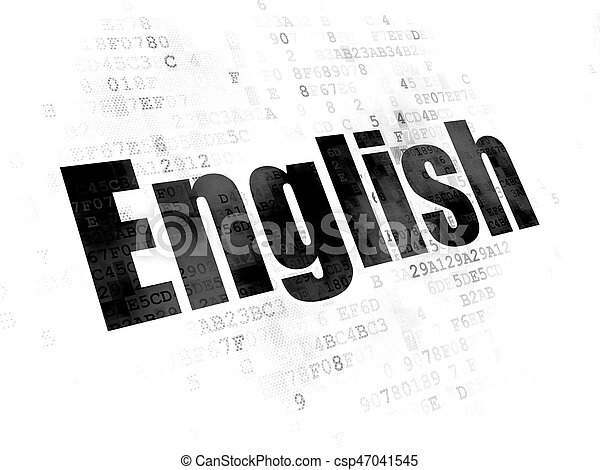 Education concept: English on Digital background - csp47041545