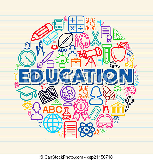 Education concept illustration - csp21450718