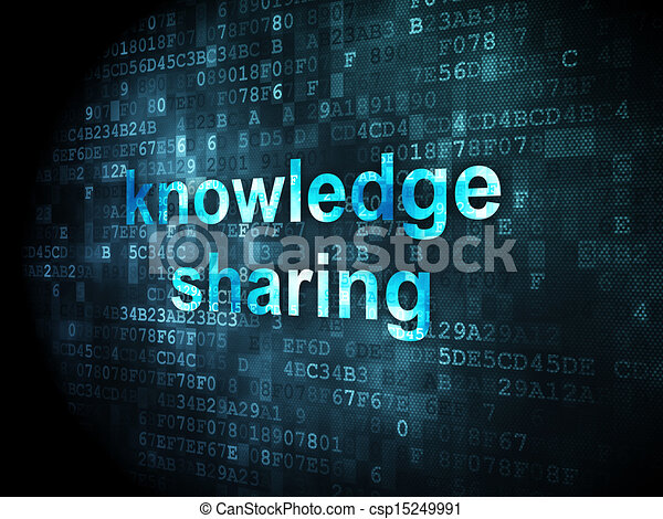 Education concept: Knowledge Sharing on digital background - csp15249991